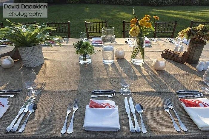 The tables are set on the Chalet lawn at Castle Hill Inn