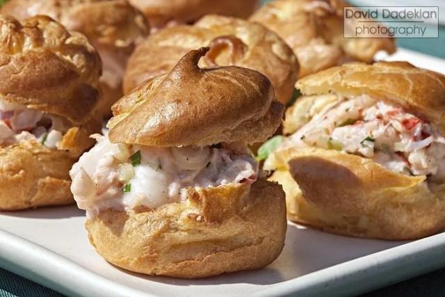 Pt. Judith lobster profiteroles, tarragon aioli, pickled ramps