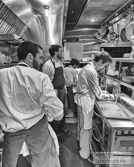 birch kitchen, Chef Benjamin Sukle in center