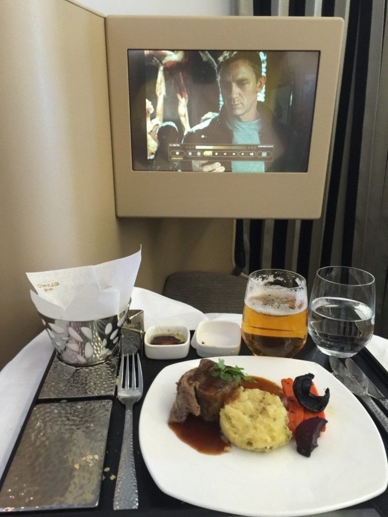 Etihad Business Class AUH MAN_meal