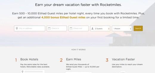 Rocketmiles 4000 bonus Etihad Guest miles