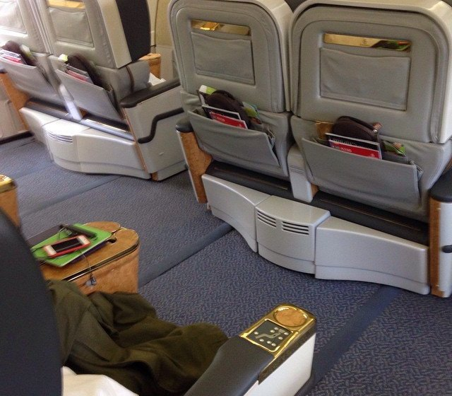 Emirates First Class: at risk from Premium Economy