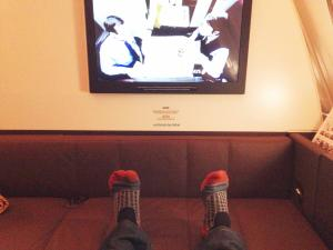 Etihad A380 First Class Apartment: Feet up 2