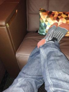 Etihad A380 First Class Apartment: Feet up 1