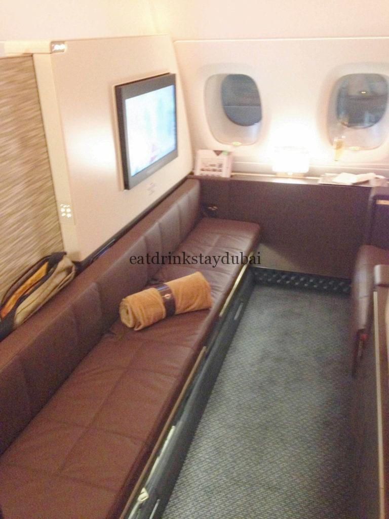 Etihad A380 First Class Apartment: Ottoman 1