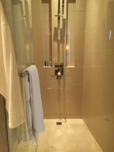 Hotel Review JW Marriott Marquis Dubai: Bathroom shower