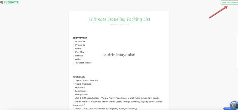 Ultimate Traveling Packing List