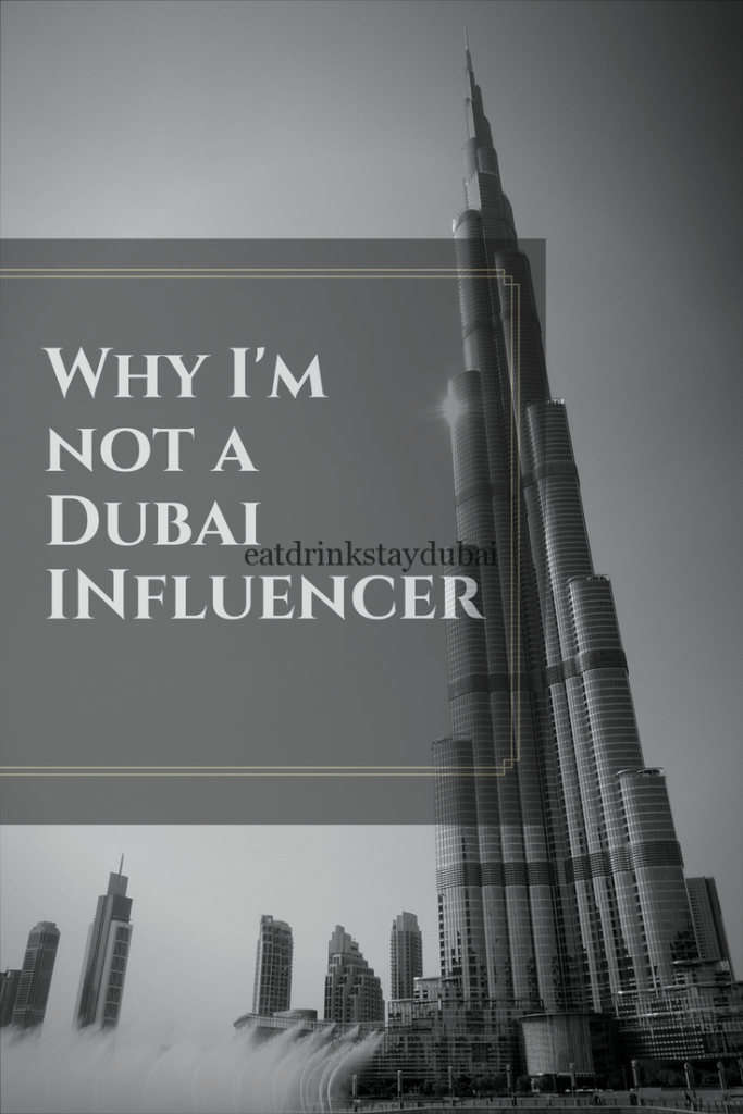 Why I'm not a Dubai Influencer