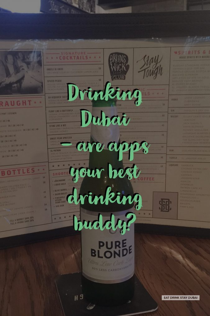 Drinking Dubai - are apps your best drinking buddy?
