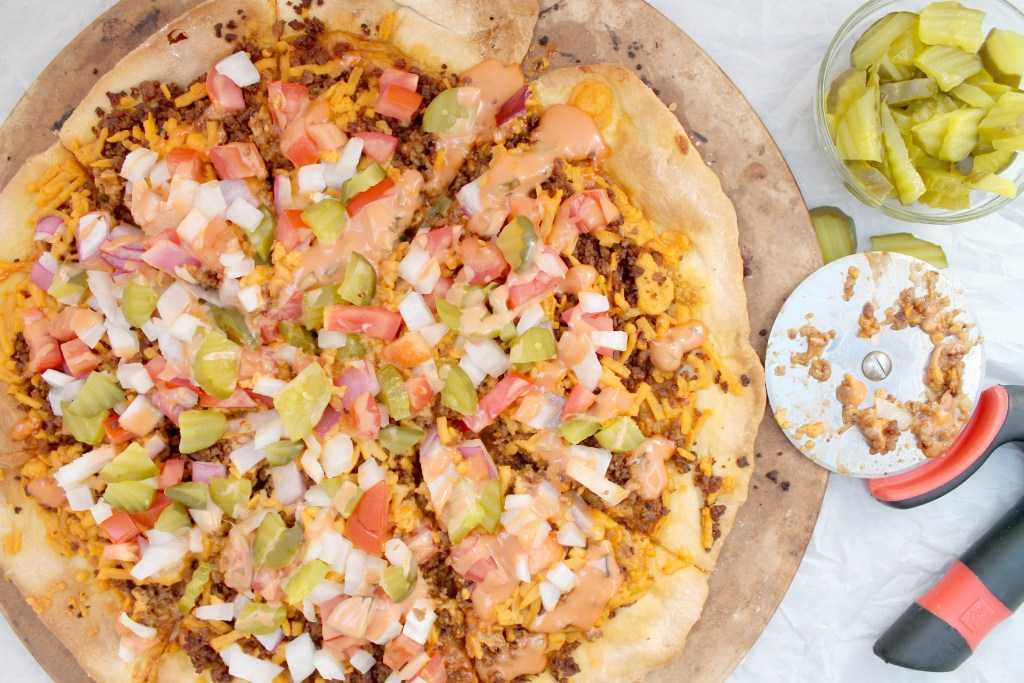 Vegan Cheeseburger Pizza