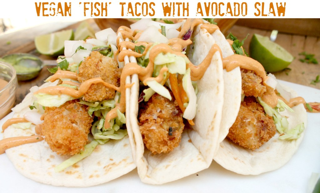 Fried fish tacos with slaw for Fish tacos with coleslaw