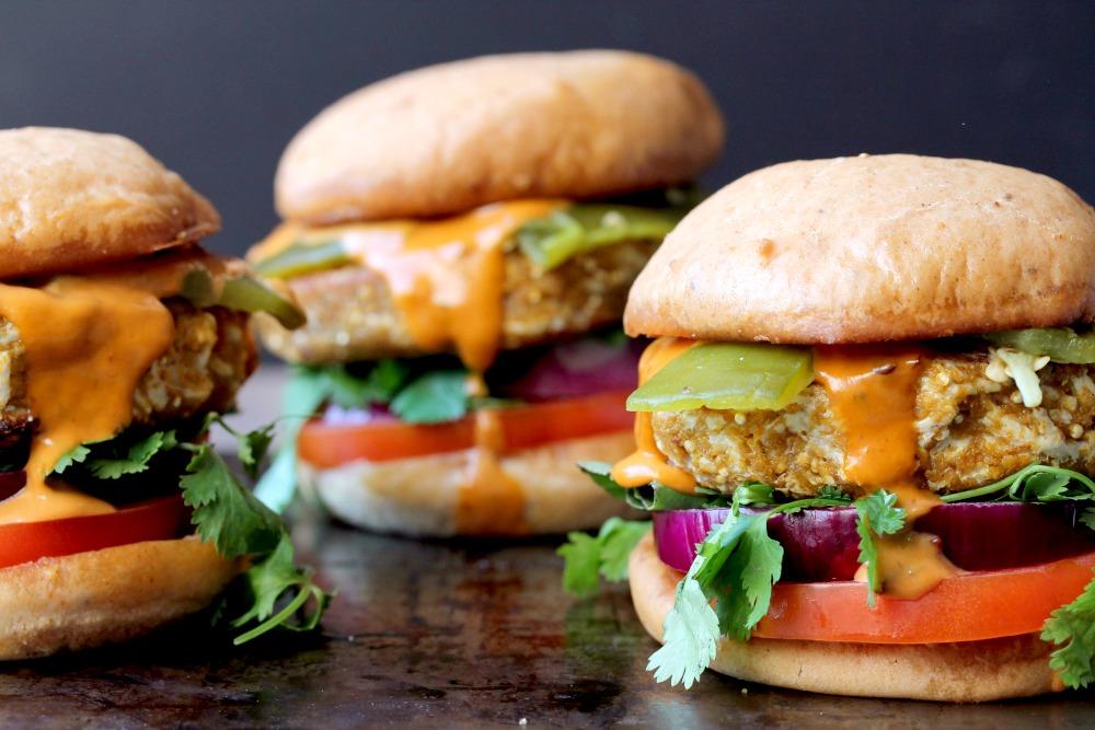 Southwest Style Quinoa Burgers (Vegan + Gluten Free)