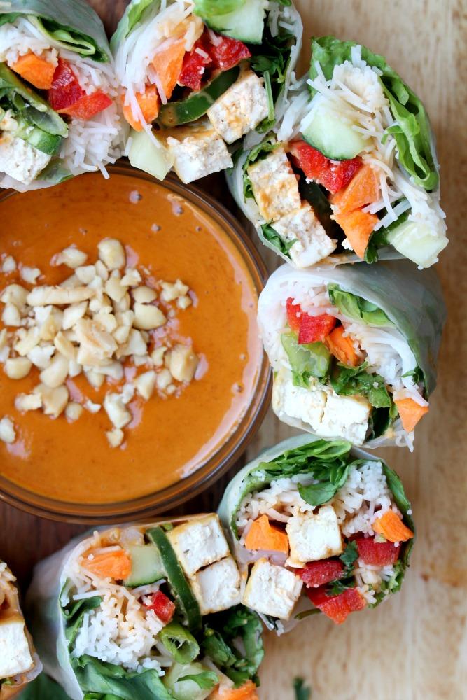 Vegan Tofu Spring Rolls Gf