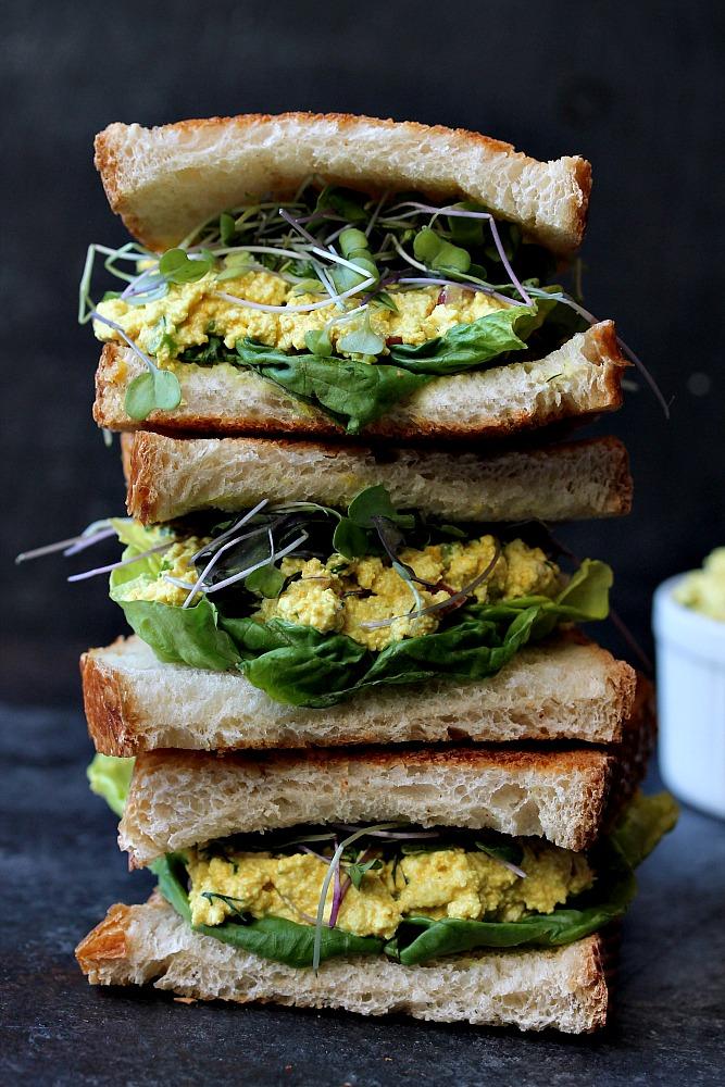 Vegan 'Egg' Salad Sandwich