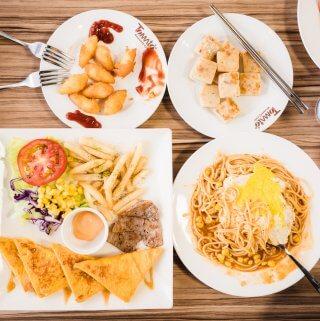 台中早餐|北區美式番茄村早午餐 還有舒服的內用環境