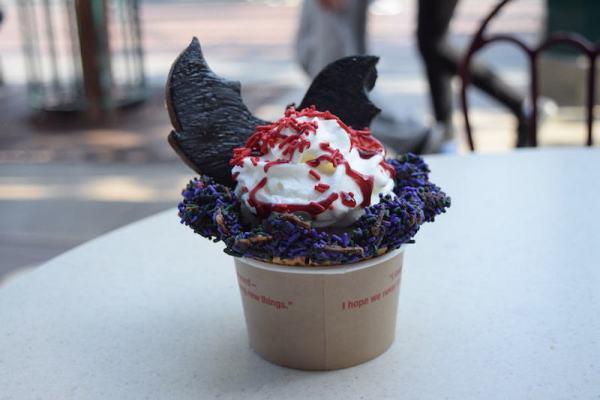 Clarabelle's Hand Scooped Ice Cream Bat Wing Raspberry Sundae