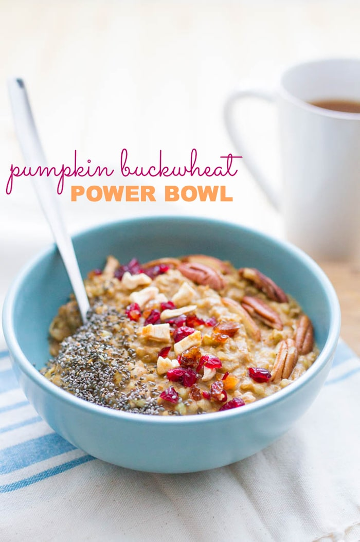 fall pumpkin buckwheat breakfast bowl-1-3