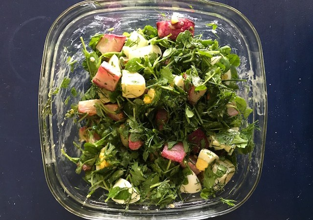 roasted turnip salad