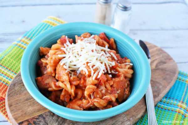 One Pot Italian Chicken Pasta Recipe is the perfect meal for busy weeks. Lots of cheese combine with hearty meat, tomatoes and pasta for the best meal.
