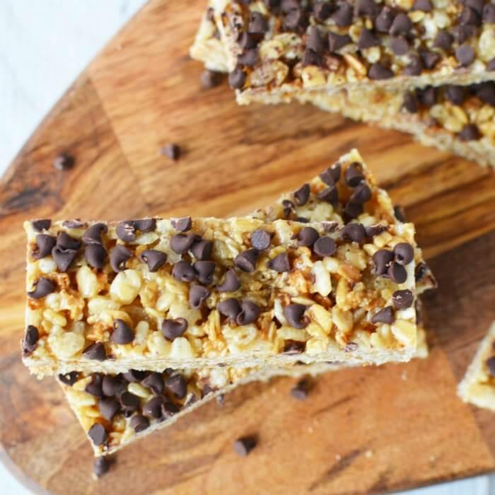 Homemade Granola Bars Chocolate Chip Granola Bars Recipe