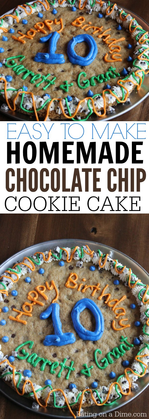 Easy To Make Giant Cookie Recipe Eating On A Dime