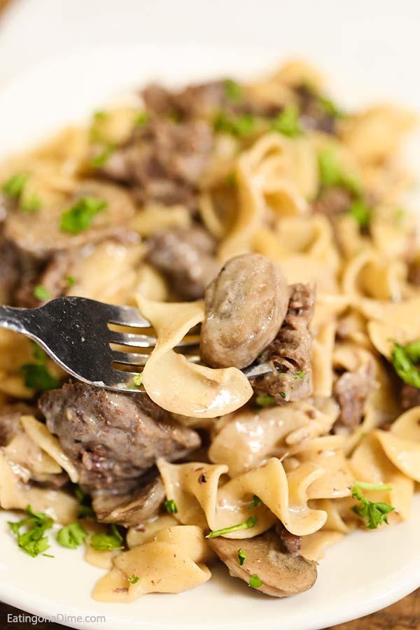 Easy Crock Pot Beef Stroganoff Recipe - Simple Slow Cooker ...