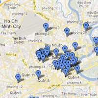 Saigon Street Food Map