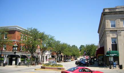Downtown Glen Ellyn  Glen Ellyn Illinois IL photo