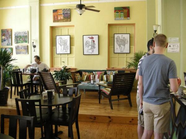 seating in Old Havana Sandwich Shop