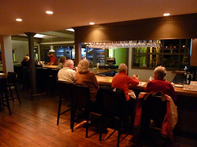 People at the bar at the Granary