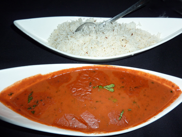 photo of the daal and rice