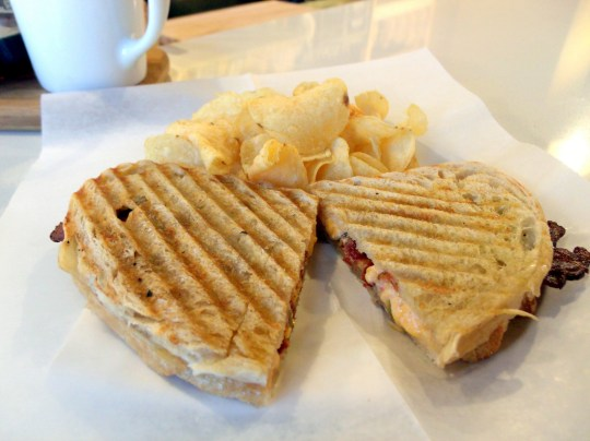 Jubala Village Coffee - Pimento Grilled Cheese with Bacon & Pickles