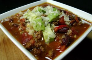 chili with beer