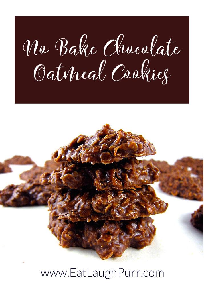 No Bake Chocolate Oatmeal Cookies