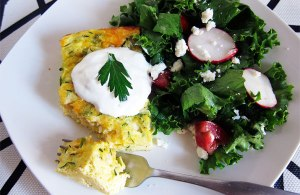 Green Chile Zucchini Egg Bake