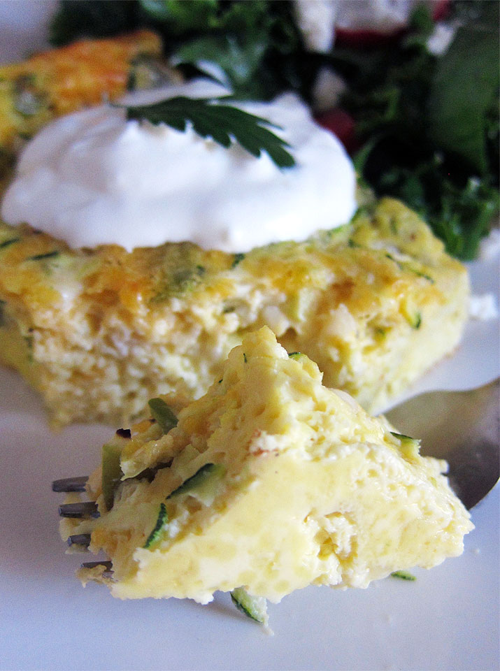 Green Chilie Zucchini Egg Bake