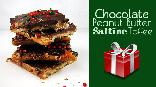 Chocolate Peanut Butter Saltine Toffee #ChristmasCandy #Candy