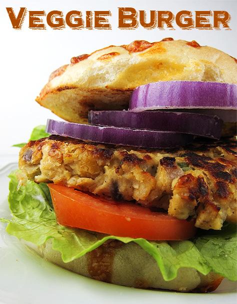 Sweet Potato Chickpea Veggie Burger