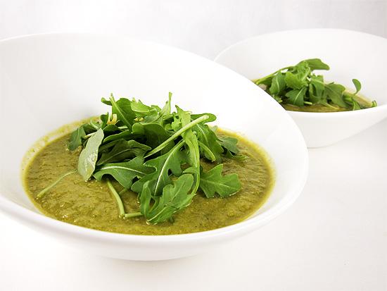 edamame arugula soup