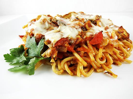 spicy eggplant pasta