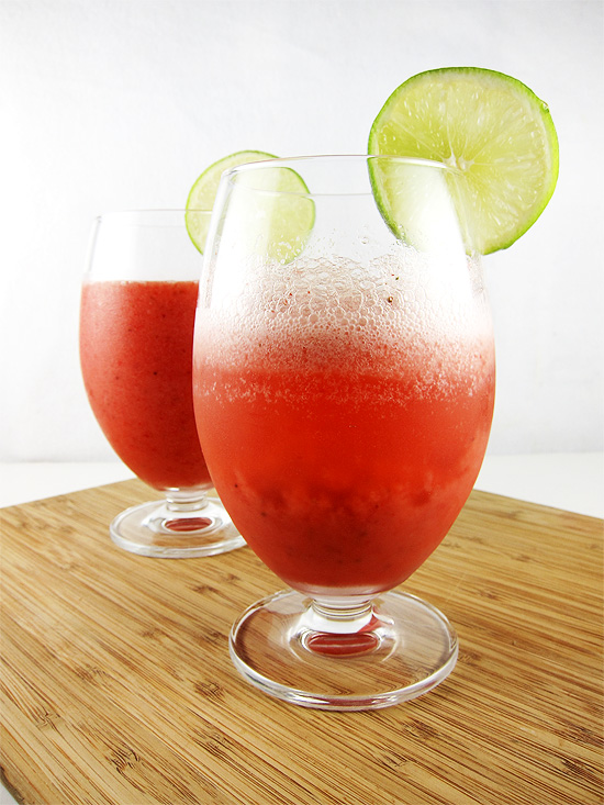 strawberry limeade cooler
