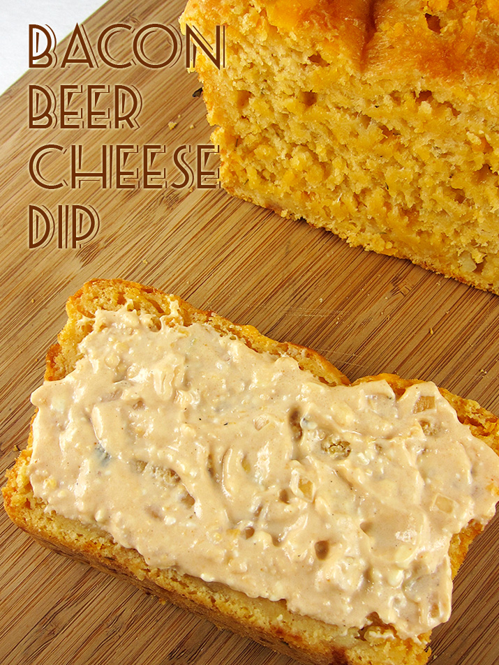 Bacon Beer Cheese Dip conveniently made in the crockpot. | www.EatLaughPurr.com