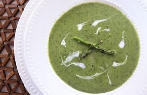 Creamy Asparagus Soup   www.EatLaughPurr.com