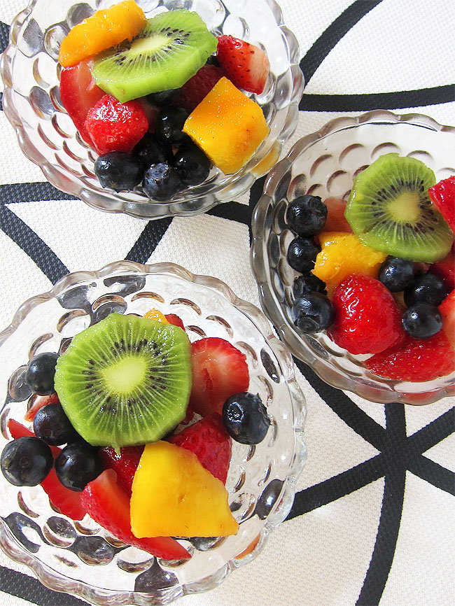 Fruit Salad with Honey Lime Dressing | www.EatLaughPurr.com