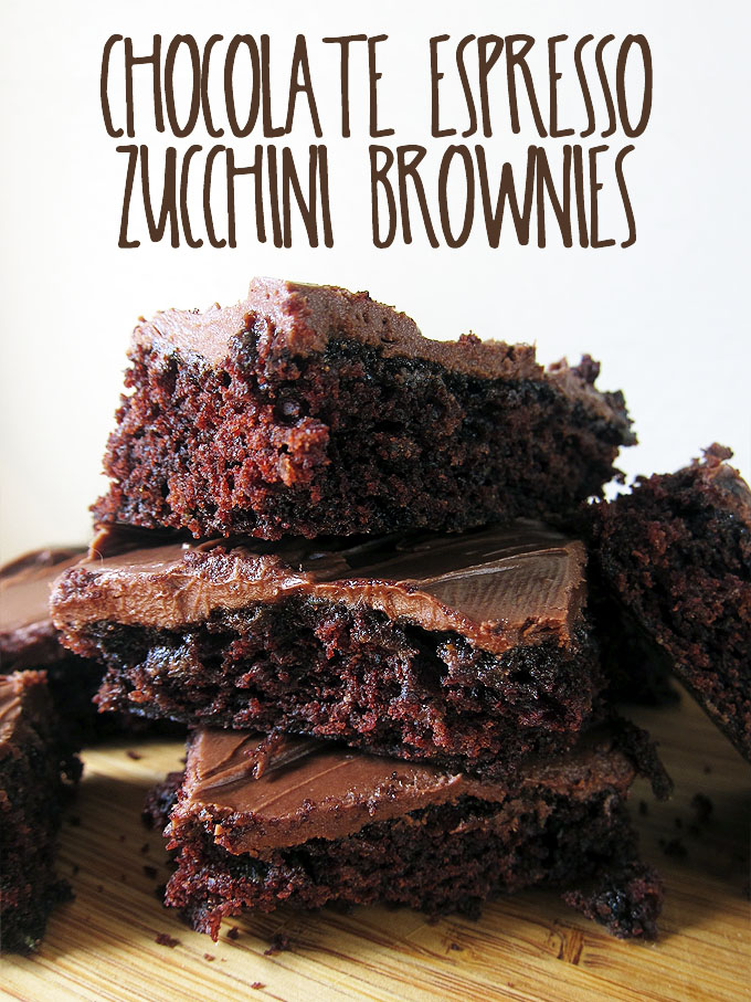 Chocolate Espresso Zucchini Brownies   www.EatLaughPurr.com