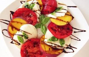 Peach Tomato Caprese Salad