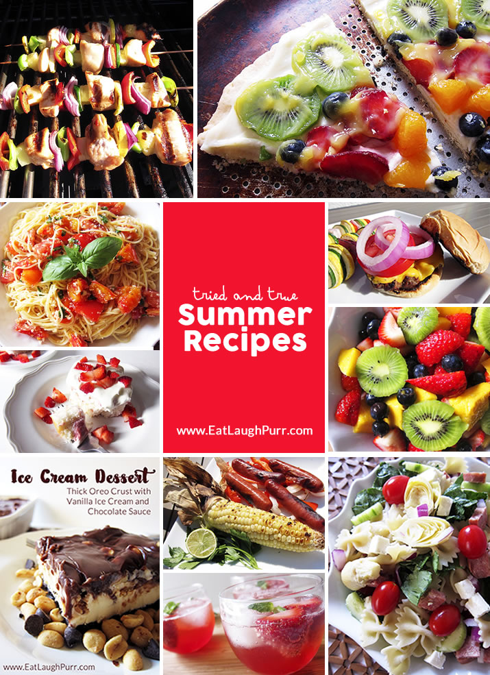Summer Recipes Round-Up: Full of tried-and-true, family favorite recipes from fruit pizza to ice cream dessert and more.