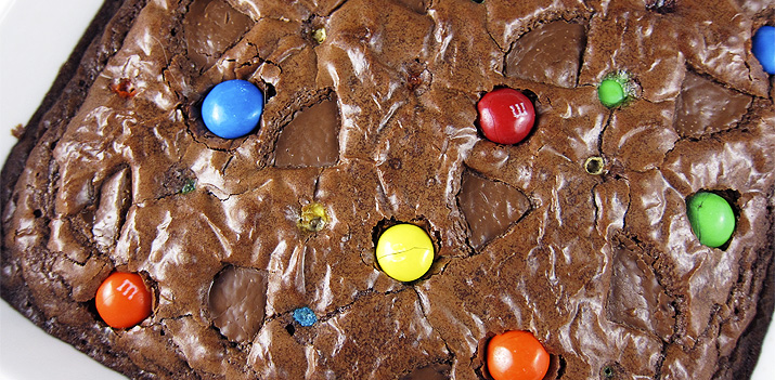 Use up your leftover Halloween candy in these easy and delicious brownies.