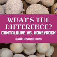 How is Honeyrock Melon Different from Cantaloupe ?