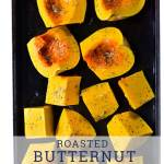 butternut squash on roasting pan
